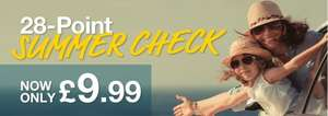 28 point car check for £9.99 and free gift worth £14.99 @ Pentagon Motor Group
