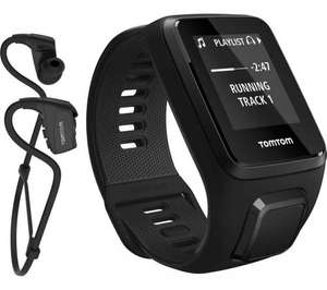 TOMTOM Spark 3 GPS Fitness Watch + Music with Headphones - Black - £99.99 @ Currys