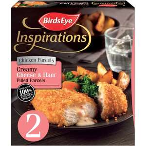 Birds Eye Inspirations 2 Chicken Creamy Garlic and Herb Filled Parcels / Birds Eye Inspirations 2 Chicken with Cheese & Ham Sauce240g was £2.00 now £1.50 (Rollback Deal) @ Asda