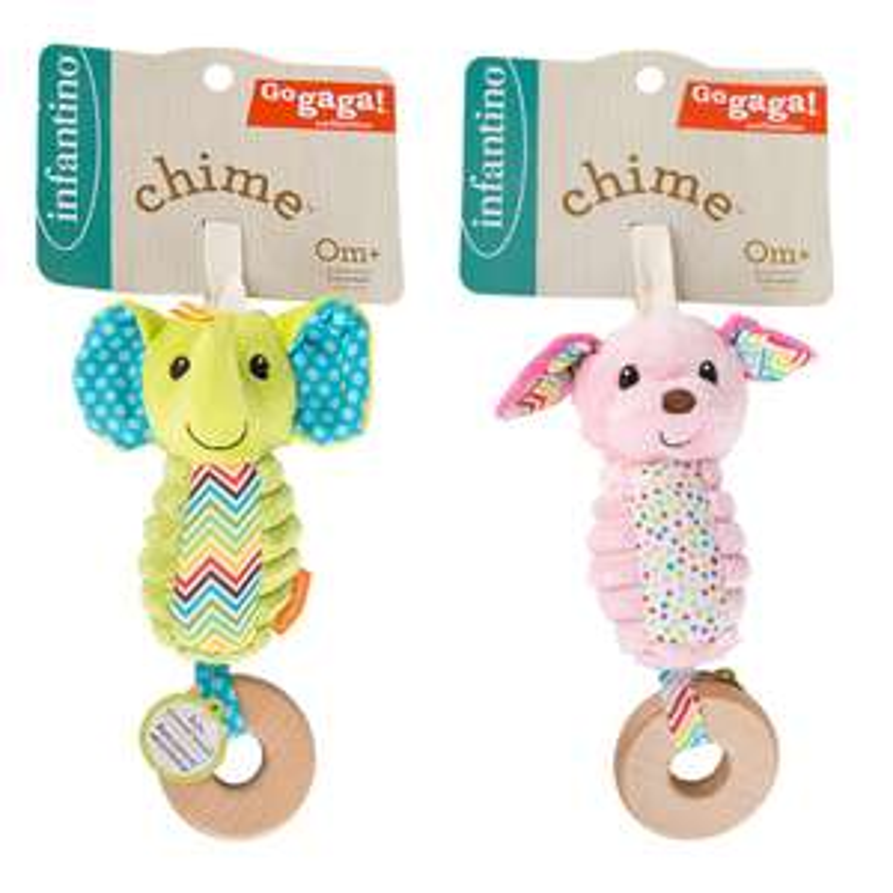 Infantino Go Gaga Chime Pram Toys  - Elephant & Dog £4.98 delivered at Brooklyn Trading