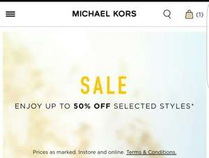 MICHAEL KORS Summer Sale upto 50% off