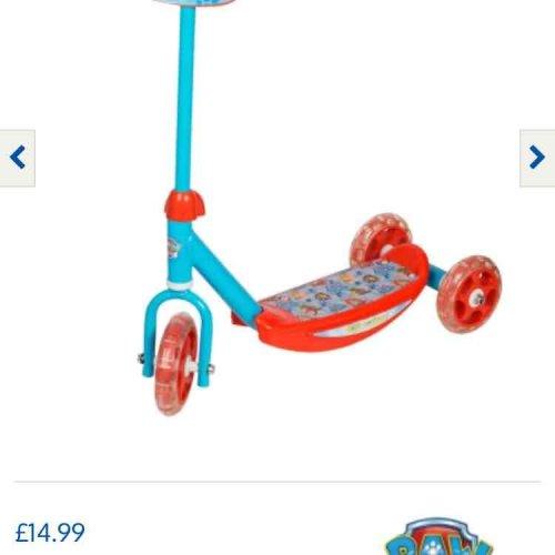 paw patrol scooter £14.99 @ B&M