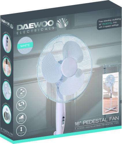 """Daewoo 16"""" Electric Pedestal fan £15.98 delivered @ Chemist4U"""