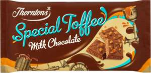 Thorntons Special toffee milk chocolate bar & Special Fudge chocolate bar 100g  75p@coop