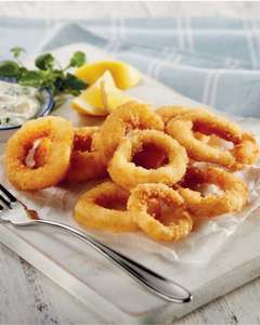 Breaded Calamari Rings  ONLY £2.49 (12.45 a Kg) @ Aldi