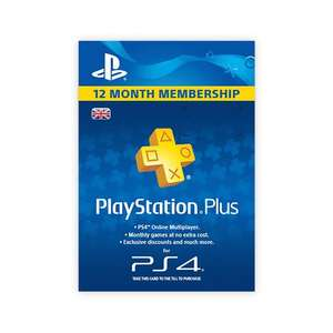 playstation plus 365 days membership £29.99 from 9th June @ smyths toys