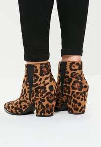 Leopard Print Boots - Missguided 56% off only £12 now!