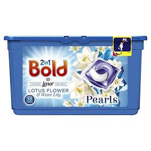 25% off Bold Bio 2-in-1 Pearls Washing Capsules White Lily and Lotus Flower - 3 x 38 Pack (114 Washes) £18 S&S @ Amazon
