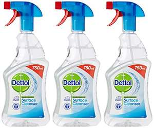 Dettol Anti-Bacterial Surface Cleanser, 750 ml - Original, Pack of 3 £4.50 S&S @ Amazon