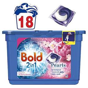 Bold 2in1 Washing Tablets Bloom & Yellow Poppy 36 Washes (2 x 18 pack) £5.64 S&S @ Amazon