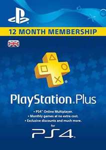 PlayStation Plus 12 Month Membership [PSN Download Code - UK account] £29.99 Amazon.co.uk