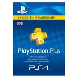 Playstation Plus (12 Month) only £29.99 GAME