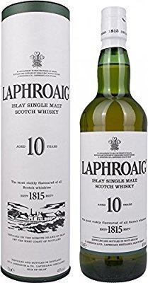 Laphroiag 10yo Islay single malt whisky. lightning deal £24.99 at Amazon