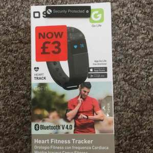 Bluetooth V 4.0 Heart Fitness Trackers - £3 instore at ASDA