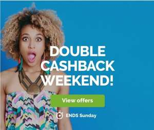 Quidco - Double cashback weekend - 12 amazing retailers