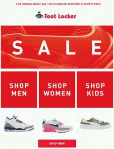 Sale up to 50% off the hottest brands and styles @ FootLocker