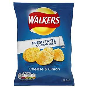 Walkers Cheese and Onion Flavour Crisps 32.5 g (Pack of 32) - £5.94 @ Amazon (Add On item)