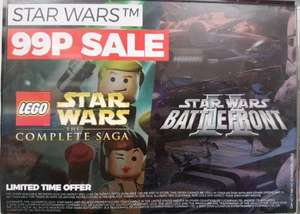 (Steam) Lego Star Wars The Complete Saga / Star Wars Battlefront II 99p @ Game