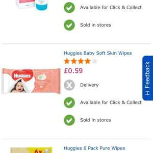 Huggies Baby Soft Skin Wipes 59p @ Toys R Us (Instore)