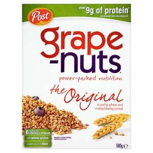 580g Post grape-nuts cereal £2 @ Tesco