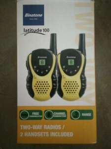 Binatone latitude 100 two way radio twin handsets - £2 instore @ Asda Swindon