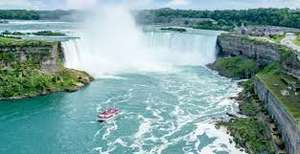 From Manchester or London: 12 Night Holiday visiting Lisbon (2 nights), Toronto (4 nights), Niagara Falls (2 nights) & New York (4 nights) April 2018 £707.30pp £1414.61 @ booking.com