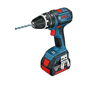 Bosch Professional GSB L-Boxx 18 V-LI Cordless Combi Drill with Two 18 V 4.0 Ah Lithium-Ion Batteries £128.13 @ Amazon