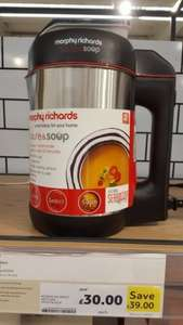 morphy Richard saute & soup was £69 now £30 tesco Mansfield