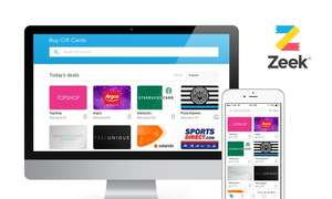 50% off Vouchers from Zeek for Major brands - Topshop, Argos, Starbucks, John Lewis etc... via Groupon