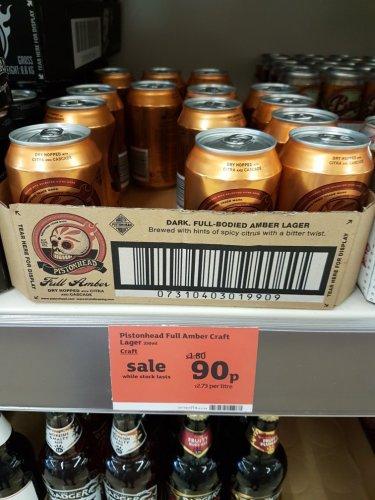 Pistonhead Full Amber Craft Ale - Sainsbury's - 90p