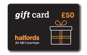 Free £5 gift card when you buy a £50 gift card (+£1.49 del) @ Halfords