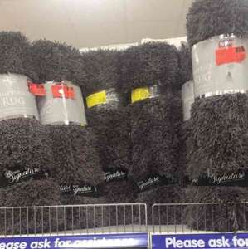 Fluffy Rug £1 instore @ B&M Hexham, Northumberland