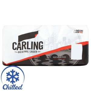 Carling 20 x 440ml £10 @ Morrisons (offer ends today)