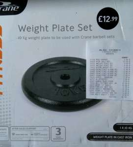 10 KG Cast Iron weight plate £5 at Aldi Instore