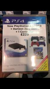 PS4 Slim 500GB Console + Horizon Zero Dawn + DualShock 4 Controller V2 £229 In-store @ Asda