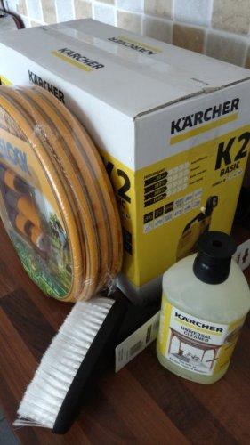 Karcher K2 pressure washer bundle: Basic model PLUS Hozelock starter hose set PLUS Karcher car brush PLUS any 1l Karcher cleaning fluid for £65 at B&Q in store