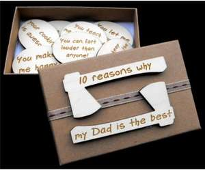 10 reasons why my Dad is the best, 25% off Fathers Day Gift Box Sets, Now £7.84  thevoyagebird / Ebay