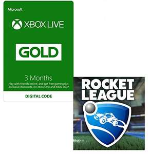 Xbox Live 3 Month Gold Membership + Rocket League Free - £14.99 - Amazon