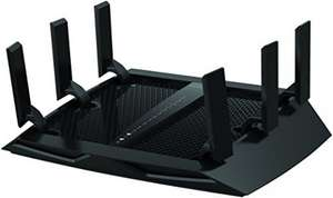 NETGEAR R8000-100UKS Nighthawk X6 AC3200 (600 + 1300 + 1300 Mbps) Tri-Band Wireless Gigabit 4K Gaming Router (Amazon Echo Enabled) - was £189.99 now £134.99 or £121.49 with code @ Amazon