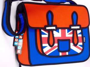 2D Union Jack Cartoon Messenger Bag - £9.97 Sold by clubit_tv at ebay