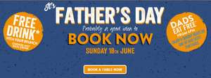 Dads eat free after 6pm Fathers day or free drink with brunch @ Hungry Horse