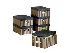 Melinera storage boxes with lids (set of 6) for £4.99 @ LIDL