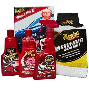 4 piece Meguiars wash and wax kit was £54.72 now £19.99 with free same day delivery @ Euro Car Parts