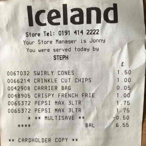 2x 3ltr bottles of Pepsi max - £3 instore @ Iceland