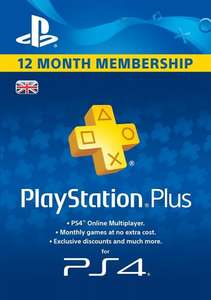 Playstation Plus (12 Month) only £29.99 AMAZON