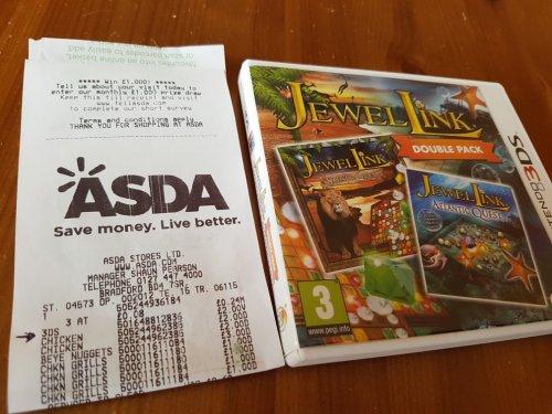 jewel link double pack Nintendo 3ds £2 @ Asda - Bradford rooley lane