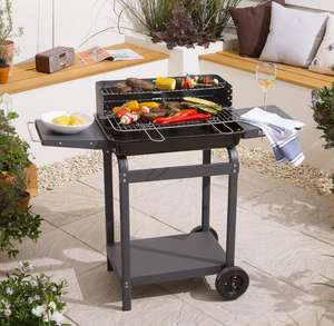 Decent sized rectangular Trolley Charcoal BBQ £28 Online & Instore at Tesco (Free C&C)