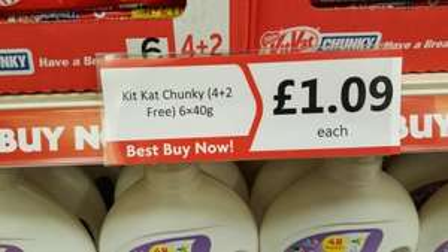 Kit Kat Chunky 6 Pack £1.09 @ Heron - Broadmarsh Centre, Nottingham