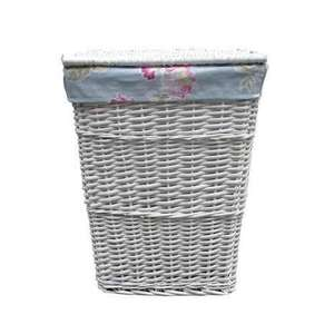 White wicker laundry basket half price £8.49 @ Dunelm - Free c&c