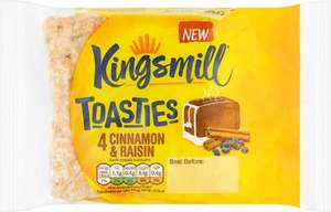 Kingsmill 4 Cinnamon & Raisin Toasties was £1.00 now 50p (Rollback Deal) @ Asda